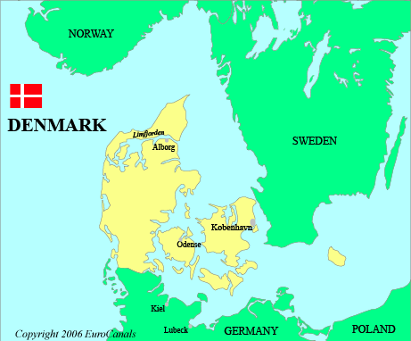 Denmark Map Islands