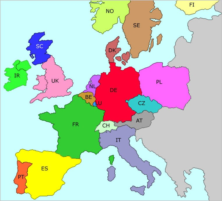 Maps Update 14041600 All Countries in Europe Map European Map – Map of All Europe