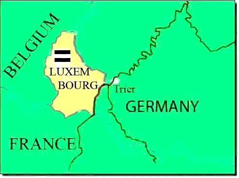 Luxembourg Germany Map.Luxembourg Waterways Map